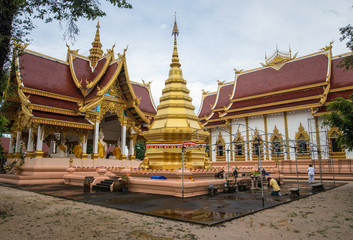 Wat Phra That Chom Chan one of the 9 important pagodas of Chiangrai province, Thailand.