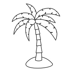 Palm icon. Outline illustration of palm vector icon for web