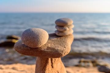 Stones on coast
