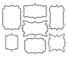 empty frame vector symbol icon design. Beautiful illustration is