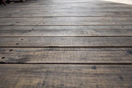 Old wood Floor Texture Pattern. Selectiv focus.