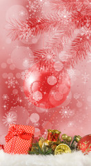 image of Christmas decorations closeup