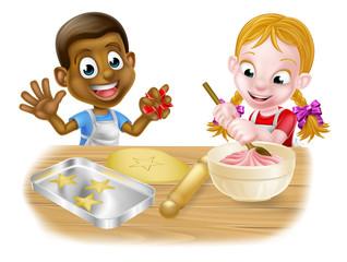 Children Playing at Baking