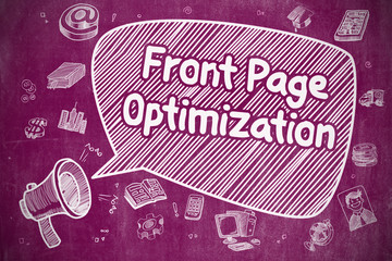 Front Page Optimization - Business Concept.