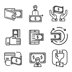 money icon set vector illustration design