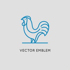 Vector logo design templates in linear style