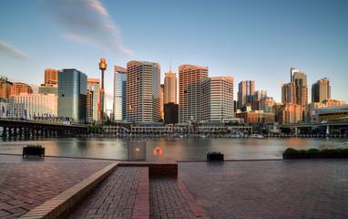 SYDNEY, AUSTRALIA - October 26, 2016 : Sunset of Darling Harbour