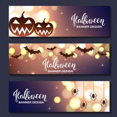 Set of three halloween banners. EPS10