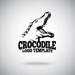 Vector Crocodile logo template for sport teams, brands etc