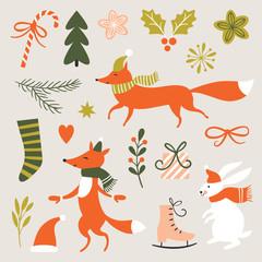 Christmas Set, design elements