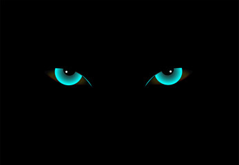 Demon eyes neon color vector