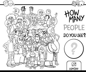 counting people task for coloring