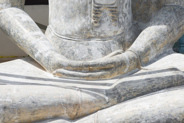 Hands of Buddha statue