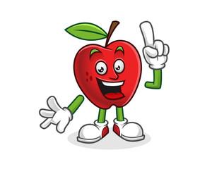 Got an idea apple mascot. Vector of Apple character. Apple logo