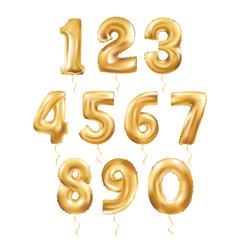 Metallic Gold Letter Balloons 123