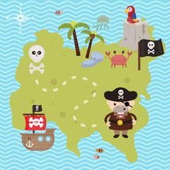 Treasure map theme.