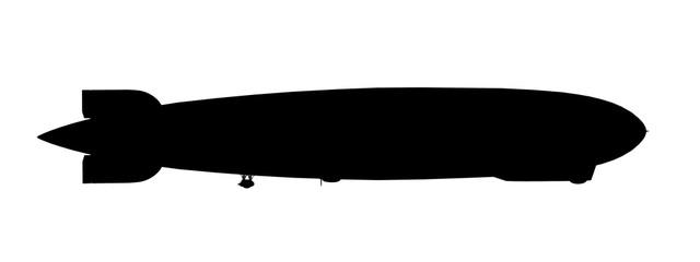 Silhouette eines Zeppelin