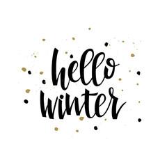 Hello winter text.