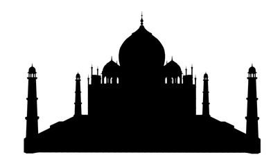 Silhouette des Taj Mahal in Indien