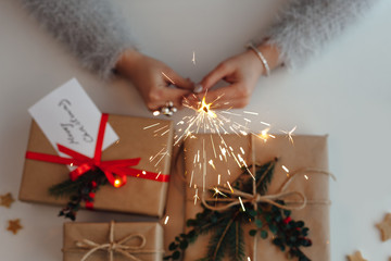 Christmas sparkle  and gifts