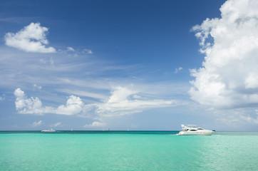 Yacht in the Caribbean Sea