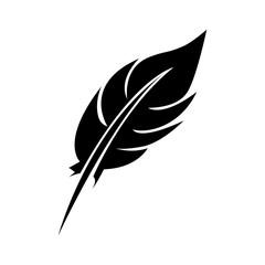 single feather icon image vector illustration design