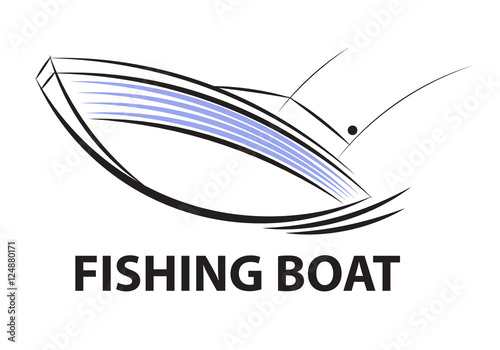 quotsymbol fishing boat vectorquot stock image and royaltyfree