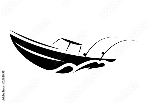 quotsymbol fishing boat vectorquot stock image and royaltyfree