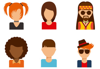 People Avatar Icon Set 2