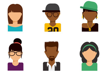 People Avatar Icon Set 1