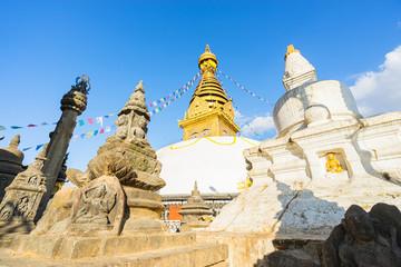 Swayambhunath Stupa in Kathmandu ,Nepal. Selective focus.