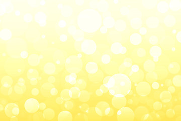 Abstract yellow, golden lights, bokeh background
