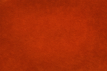 Brick red felt background close up based on natural texture