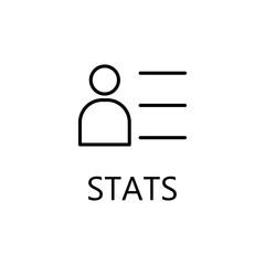 Businessman line icon. Profile outline pictogram.