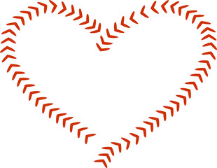 BASEBALL LACES IN HEART DESIGN! COULD BE USED TO INSERT TEAM NAME OR MONOGRAM INSIDE!