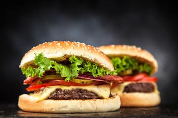Fotoväggar - Delicious grilled burger