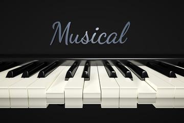 classic piano keys background