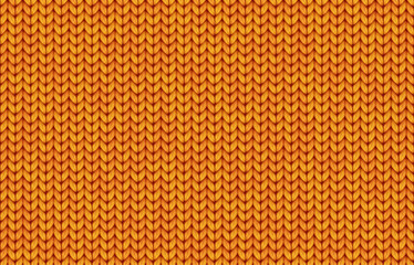 Orange realistic simple knit texture vector seamless pattern