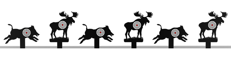 Tiersilhouetten mit Zielscheibe