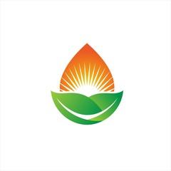 green leaves sun life logo