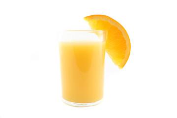 Orange juice over white