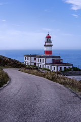 Lighthouse on the coast of Pontevedra. Galicia (Spain)