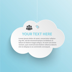 Cloud Advertising vector