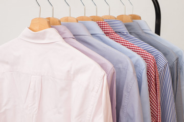 Shirts in several colors and textures