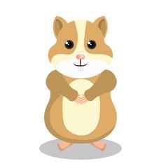 cute hamster mascot isolated icon vector illustration design
