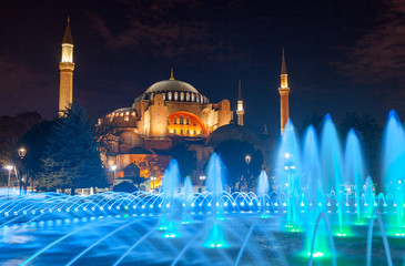 Hagia Sophia, a former Orthodox patriarchal basilica, later  mosque and now  museum in Istanbul, Turkey.