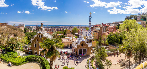 Foto op Canvas Barcelona Gaudi Park Barcelona Spain