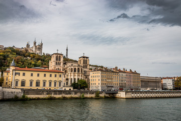 Vue sur le vieux Lyon et Fourvière