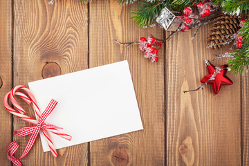 Christmas greeting card or photo frames