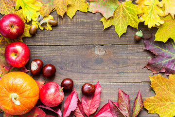happy thanksgiving autumn background. greeting card